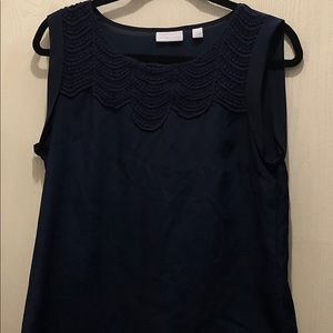 Navy New York & Company blouse